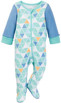 Boppy Rhino Triangle Print Sleep 'n' Play Footie (Baby Boys)