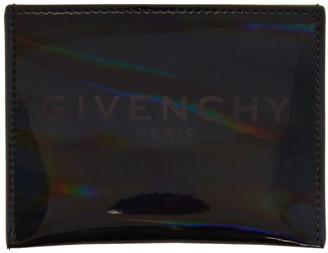 Givenchy Grey Iridescent Logo Card Holder