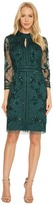 Adrianna Papell Long Sleeve Mock Neck Beaded Cocktail Dress Women's Dress