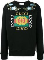 Gucci GG floral sweatshirt - men - Cotton/Brass - XXS