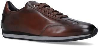 Santoni Leather Lcourt Sneaker