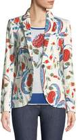Escada Iznik Pottery-Print One-Button Blazer