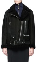 Acne Studios More She Sue' lambskin shearling motorcycle jacket