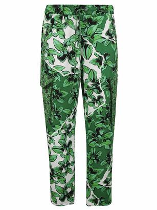 Iceberg Leaf Printed Cargo Pants