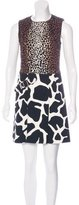 Derek Lam Leopard Print Denim Dress