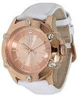 Juicy Couture Women's 1900939 Surfside Rose Gold Case White Leather Strap Watch