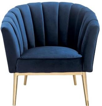 "Everly Quinn Burney 20"" Barrel Chair Upholstery Color: Blue"