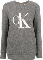 Calvin Klein Jeans logo print sweatshirt - women - Cotton/Spandex/Elastane - L