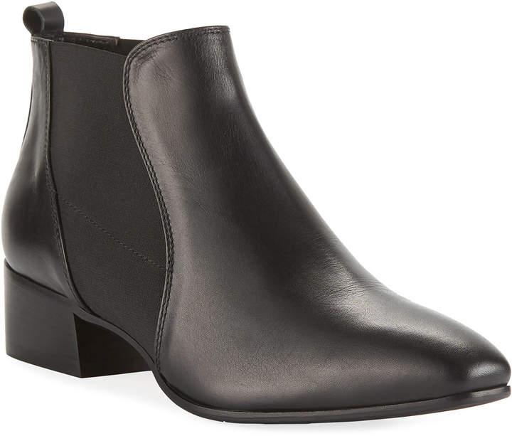 Aquatalia Falco Gored Leather Booties