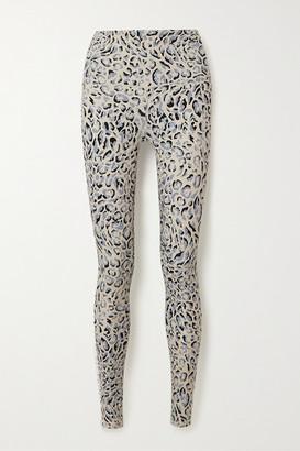 Varley Century Leopard-print Stretch Leggings - Blue