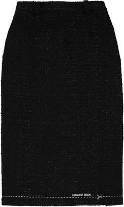 Vetements Metallic Boucle-tweed Skirt