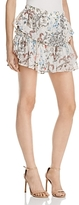 WAYF Freya Floral Ruffle Mini Skirt - 100% Exclusive