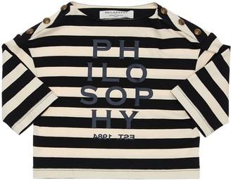 Philosophy di Lorenzo Serafini Striped Cotton Jersey T-shirt