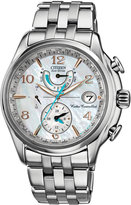 Citizen Women's Eco-Drive World Time A-T Stainless Steel Bracelet Watch 39mm FC0000-59D
