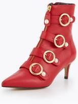 Carvela Sparky Leather Buckle Ankle Boot