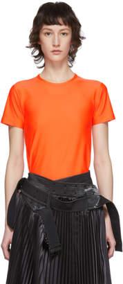 Junya Watanabe Orange Nylon Tricot T-Shirt