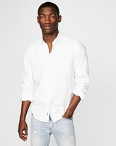 Express Classic Soft Wash White Oxford Shirt
