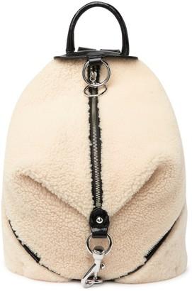 Rebecca Minkoff Genuine Shearling & Leather Julian Backpack