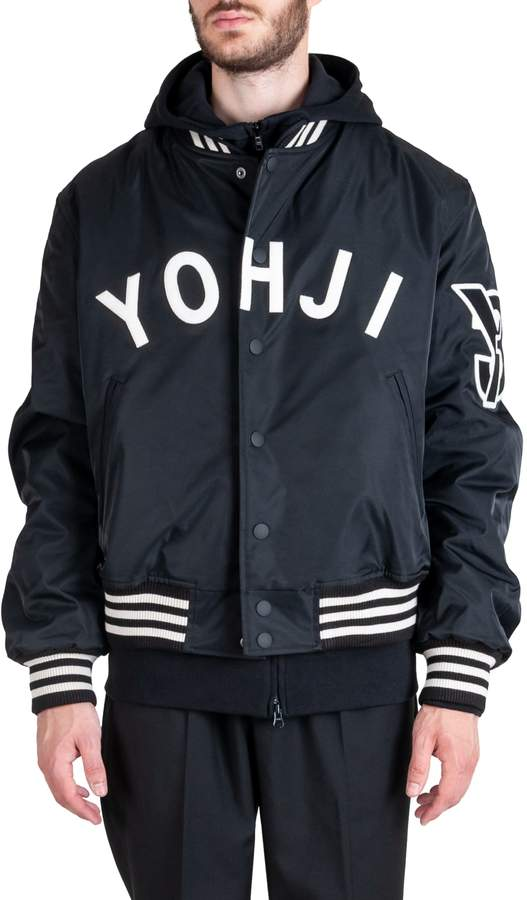 6a6dbf30d Y 3 Yohji Letters Polyester Bomber Jacket Black