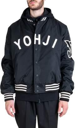Y-3 Y 3 Yohji Letters Polyester Bomber Jacket Black