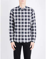 Sandro Check Brushed-cotton Shirt