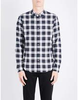 Sandro Check brushed-cotton shirt