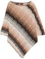 Missoni Metallic Crochet-knit Poncho - Blush