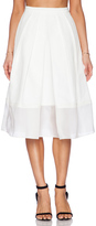 Tibi Techno Faille Pleated Skirt