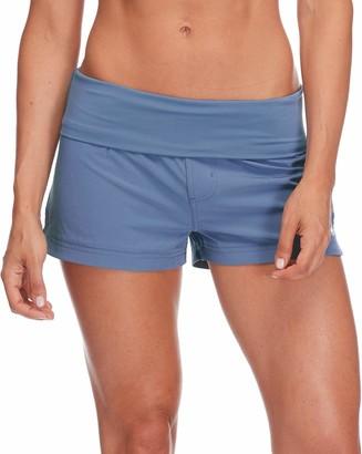 "Body Glove Women's Smoothies Seaside Solid 2"" Vapor Boardshort Swimwear Cover-Up"