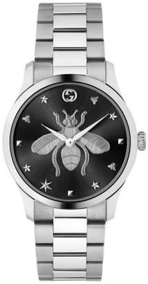 Gucci G-Timeless Collection Bee Stainless Steel Chronograph Watch