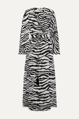 ATTICO Zebra-print Crepe Wrap Maxi Dress