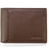 Steve Madden Mocha Leather Passcase Wallet.