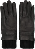 Ami Alexandre Mattiussi Black Rib Cuff Gloves
