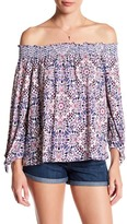 Jessica Simpson Marlena Off-the-Shoulder Print Blouse