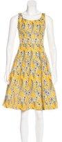Oscar de la Renta 2016 Floral Print Dress