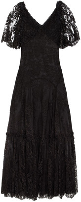 Dolce & Gabbana Paneled Corded Lace And Chantilly Lace Gown