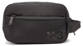 Y-3 Logo-print Technical-shell Wash Bag - Mens - Black