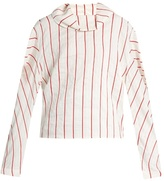 Awake To the Sea and Back striped blouse