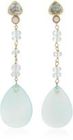 Sorab & Roshi 18k Yellow Gold Aqua Dangle earrings
