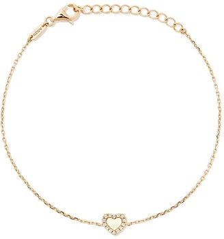 As 29 18kt yellow gold Miami Heart diamond and mother of pearl bracelet