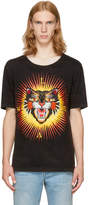 Gucci Black Treated Angry Cat T-Shirt