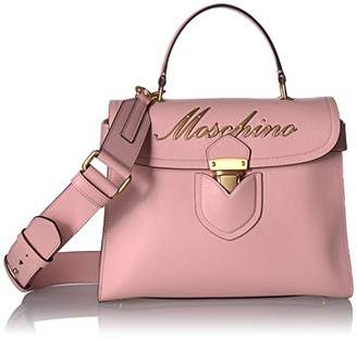 Moschino Embroidered Logo Top-Handle Box Satchel