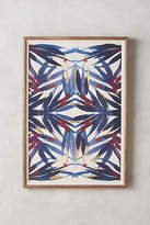 Anthropologie Sapphire Frond Wall Art