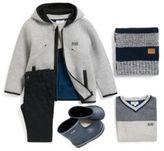 HUGO BOSS Kids' colourblock sweater in a cotton blend