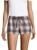 PJ Salvage Plaid-Print Drawstring Shorts