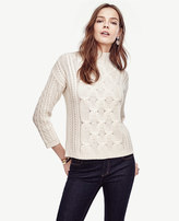 Ann Taylor Braided Cashmere Sweater
