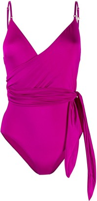 Stella McCartney Tie-Waist Wrap Swimsuit