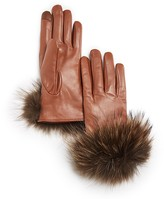 Echo Leather Gloves with Asiatic Raccoon Fur Cuff