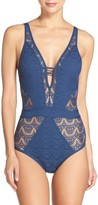 Becca Women's Show & Tell One-Piece Swimsuit