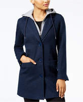 Maralyn & Me Juniors' Hooded Boyfriend Coat